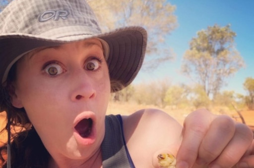Eating Witchetty Grubs On Our Aboriginal