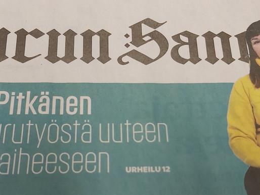 Turun Sanomat 20.12.2020: Uusi elämä löytyi kriisin kautta