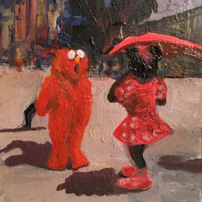 Minnie Meets Elmo in Times Square