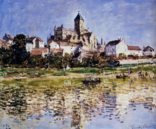 Monet the church at Vetheuil