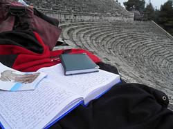 Schrijven in Epidauros