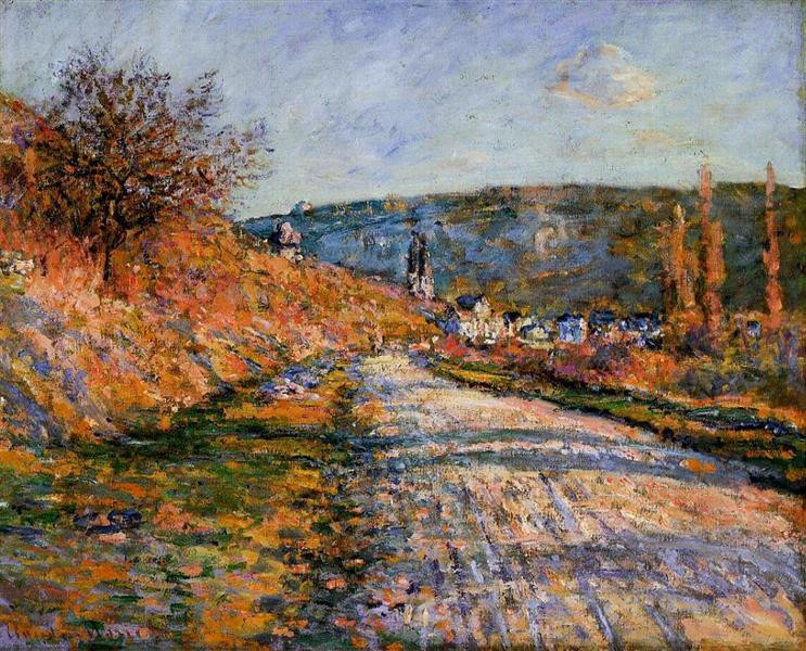 Monet The road to Vetheuil