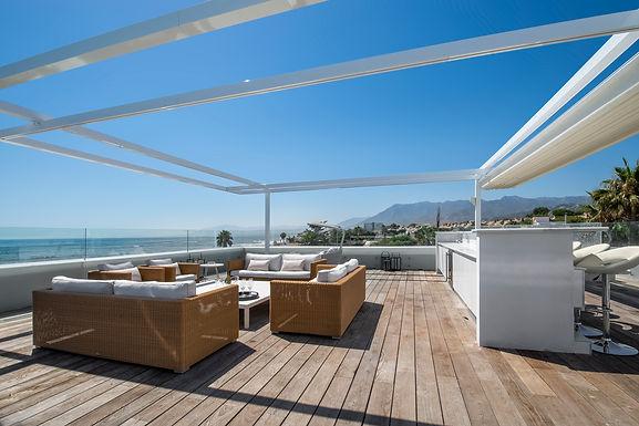 6 Bedroom Front Line Beach Villa in Marbella