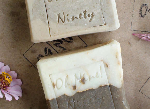 Oh Nine! Ninety Moringa Bars gift set on brown logo stamped paper