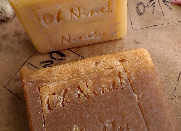 Oh Nine! Ninety 09! Legend-Star beer soap set on brown logo-stamped paper.