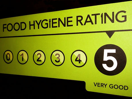 VERY GOOD food hygiene rating from the U