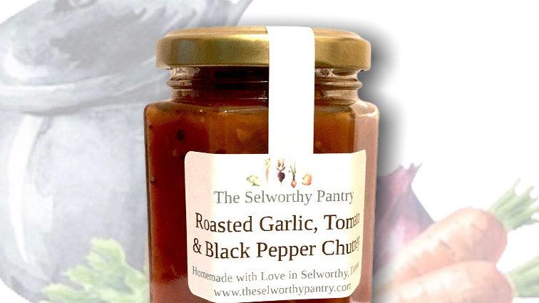 Roasted Garlic, Tomato & Cracked Black Pepper Chutney