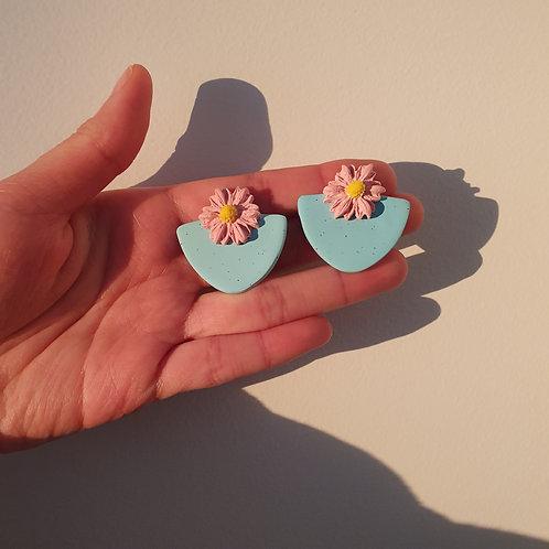 Pastel Blue Medium-Small Pastel Pink Earring