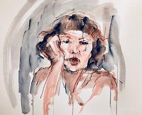 l.Dunbar'On the other hand' ink & acryli