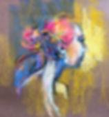 L.Dunbar.'Portrait next to Gold'pastel.j