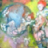 L.Dunbar'Tumbling'oil:canvas.30:30cm.jpg