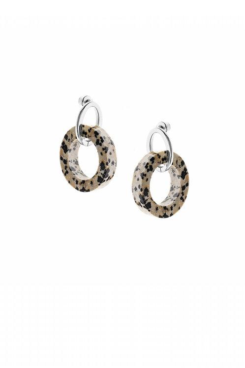 Jasper Earrings Silver