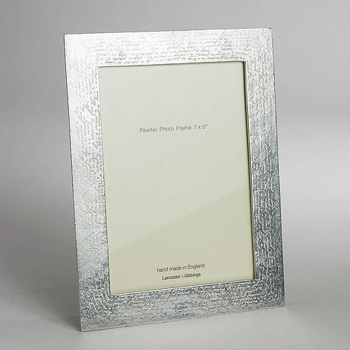 Handwriting Pewter Photo Frame (7 x 5 cm)