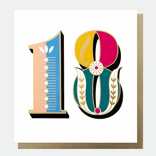 Carnival 18th Birthday Card