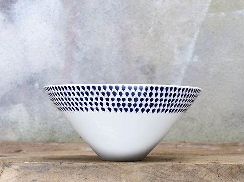 Indigo Drop Serving Bowl Large
