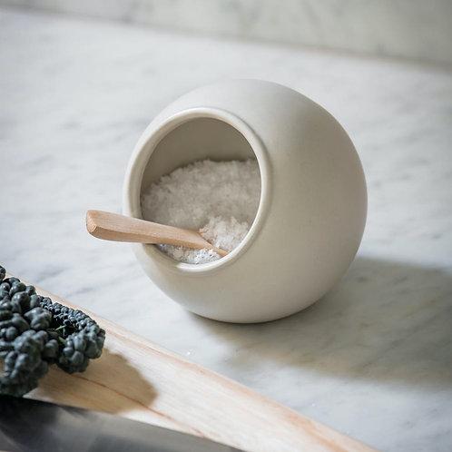 Ceramic Salt Cellar in White