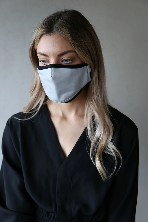 Adult Organic Cotton Face Covering Grey