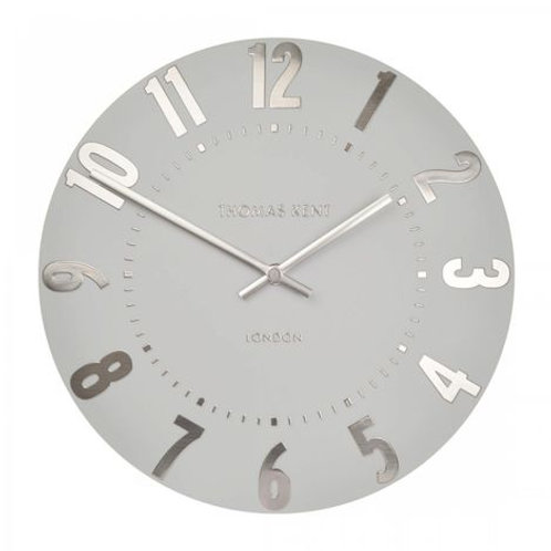 20 Inch Mulberry Silver Cloud Large Wall Clock