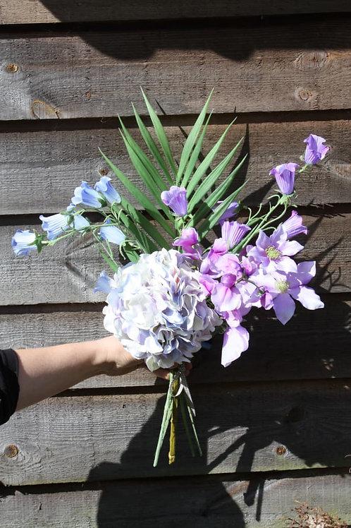 Silk Painted Flower Bouquet