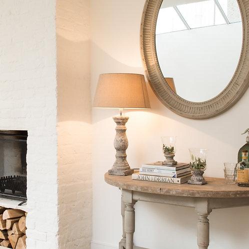 Birkdale Large Stone  Balustrade Lamp  With Gravel Shade