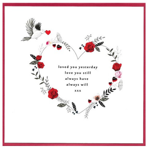 Loved You Yesterday Valentine's Day Cards