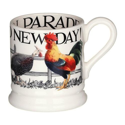 Rise & Shine 1/2 Pint Mug Poultry On Parade
