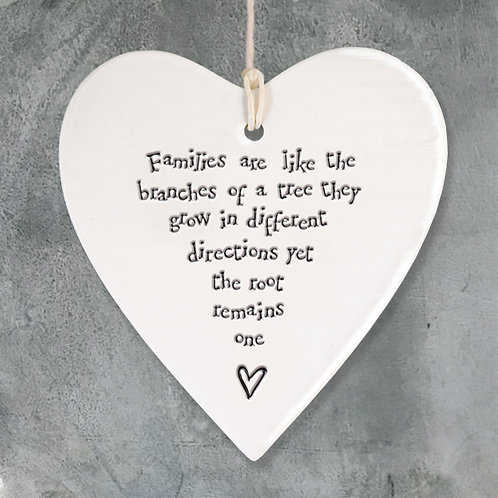 Porcelain round heart-Families like branches