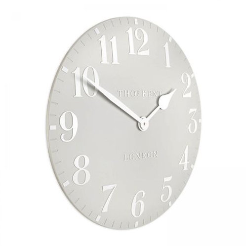 "20"" Arabic Wall Clock Dove Grey"