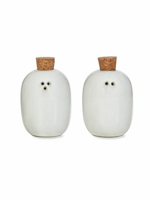Ceramic Pair of Ithaca Salt and Pepper Shakers