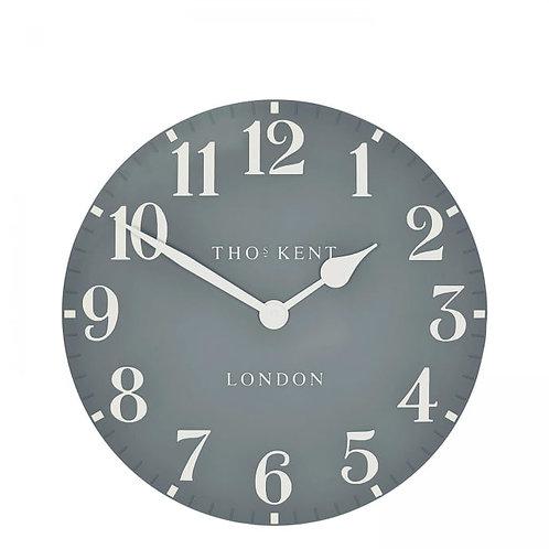 12 Inch Arabic Flax Blue Wall Clock