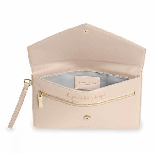 Esme Envelope Clutch Bag | Nude