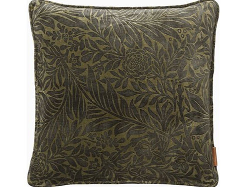 Velvet Printed Leaves Cushion