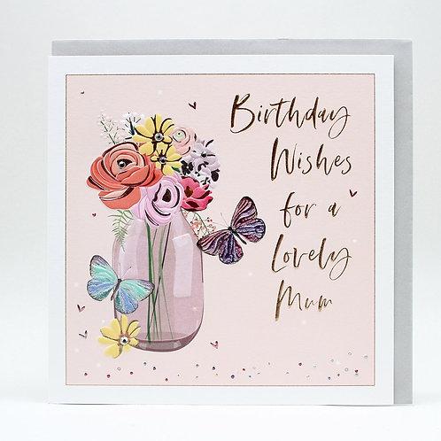 Birthday Wishes Lovely Mum Vase