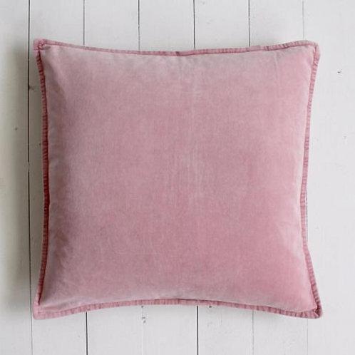 Biggie Best Flamingo Pink Stonewashed Velvet Cushion