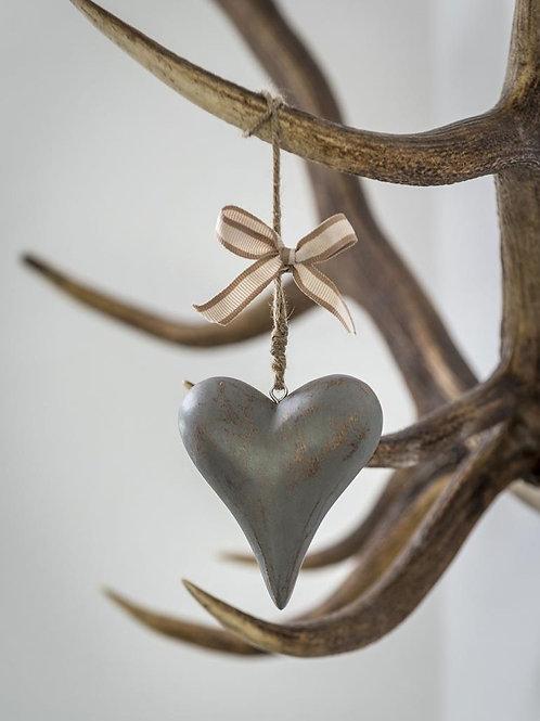 Vintage Grey Heart