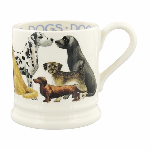Dogs Dogs All Over 1/2 Pint Mug