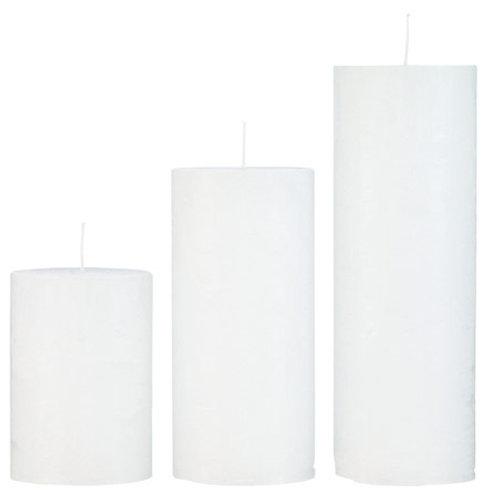 Rustic White Candle Medium (10x25cm)