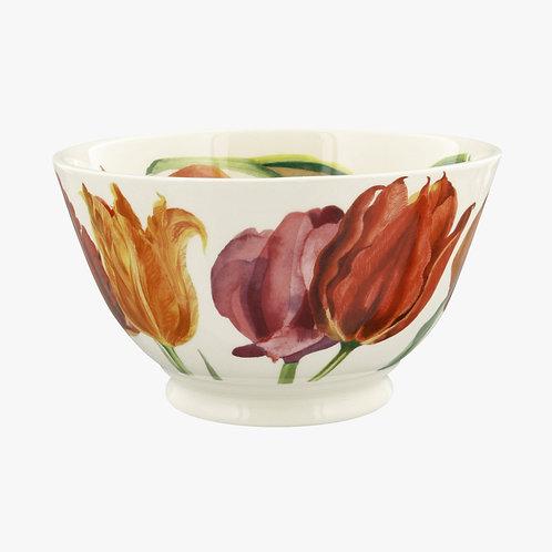 Flowers Tulips Medium Old Bowl