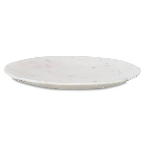 Nkuku Arjun Marble Plate - White - Medium