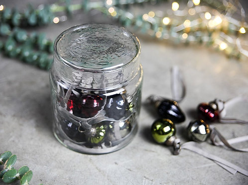 Adisa Bauble Jar - Mixed Colours - Set of 16 Baubles