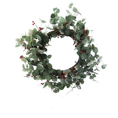 Red Berry Eucalyptus Wreath 50cm