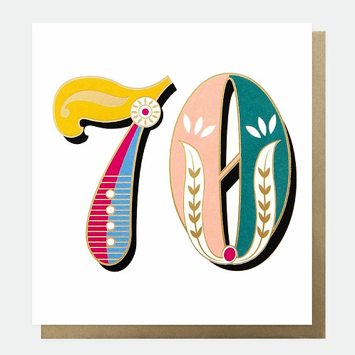 Carnival 70th Birthday Card