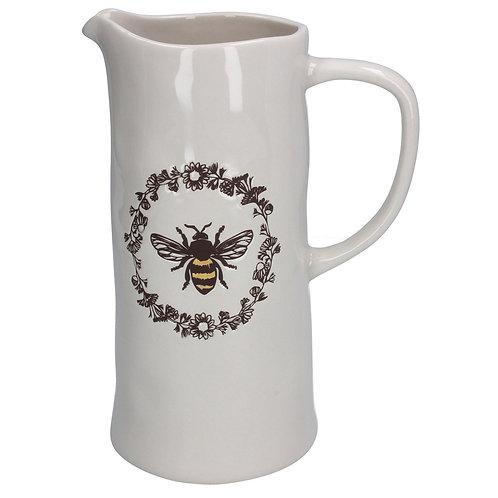 Ceramic Jug Large - Embossed Honey Bee