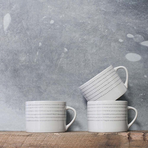 Nkuku Bria Ceramic Mug in Grey