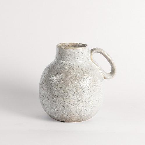 Crofton Earthenware Vase in Grey Finish