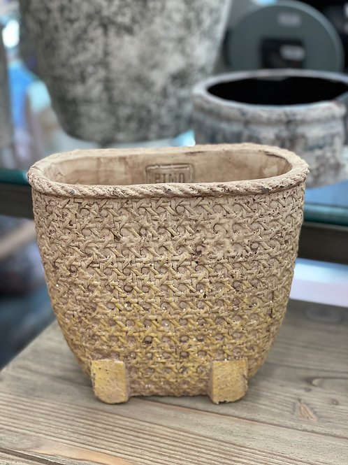 Norse Brown cement bowl basket look oval S