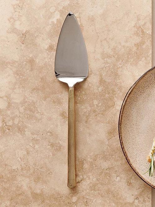 Brushed Gold Sirkali Cake Slice