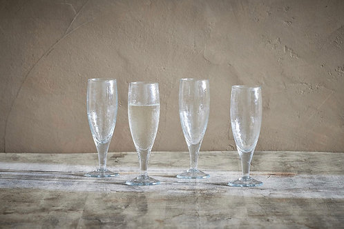 Yala Hammered Champagne Glass (Set of 4)