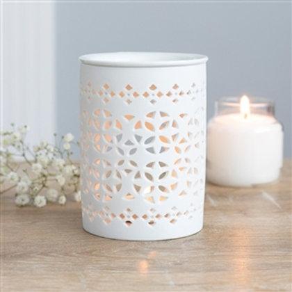 White Ceramic Wax Melter / Oil Burner