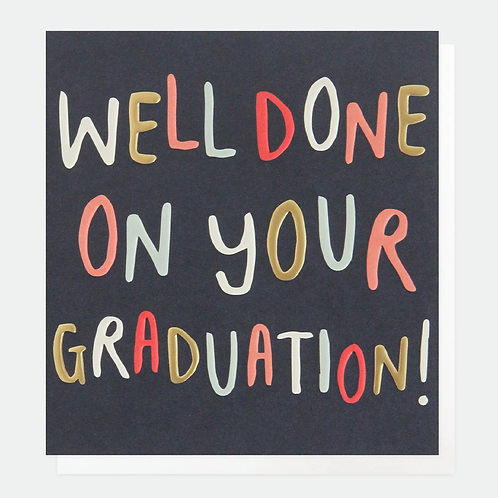 Well Done On Your Graduation Card